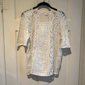 NWOT Anthropologie Meadow Rue Lace Blouse